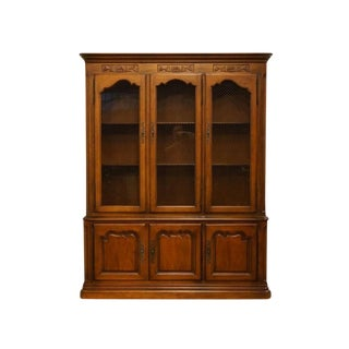 "20th Century Traditional Drexel Heritage 62"" China Cabinet For Sale"