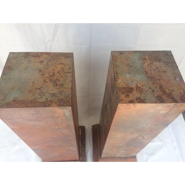 Faux Copper Finish Pedestals - Image 3 of 5