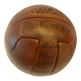 1924 Traditional Wembley Match Leather Soccer Ball For Sale