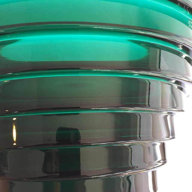 Aino Aalto for Iittala Green Glass Bowl For Sale - Image 5 of 5
