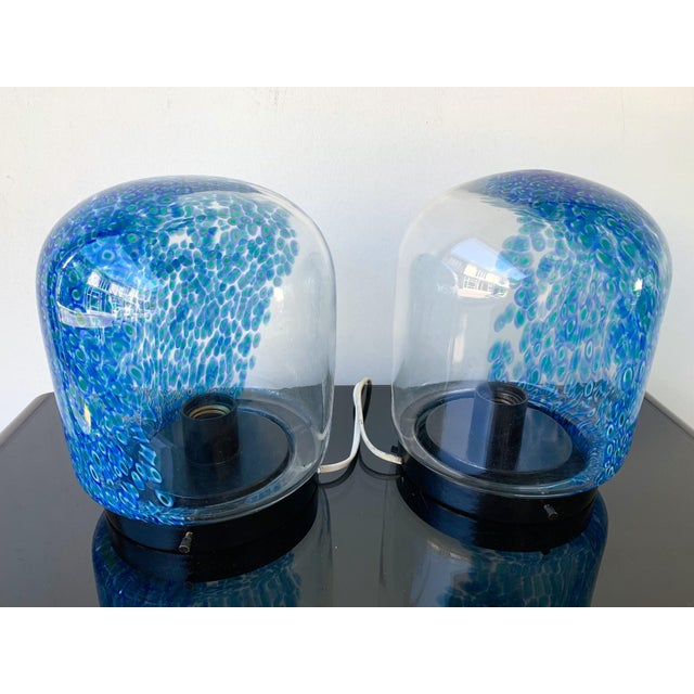 1970s Pair of Glass Lamps by Gae Aulenti for Vistosi Murano. Italy, 1970s For Sale - Image 5 of 10