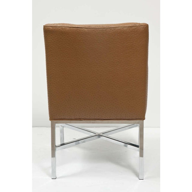 Metal Milo Baughman Attributed Armchairs - Set of 4 For Sale - Image 7 of 8