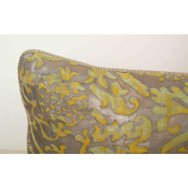 Not Yet Made - Made To Order Fortuny Pillow in Acid Green and Grey For Sale - Image 5 of 9