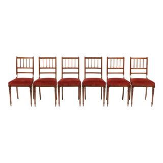 Antique Gustavian-Style Dining/Ballroom Chairs - Set of 6