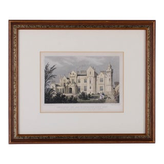 1830 Engraving Abbotsford, The Seat of Walter Scott, Scotland For Sale