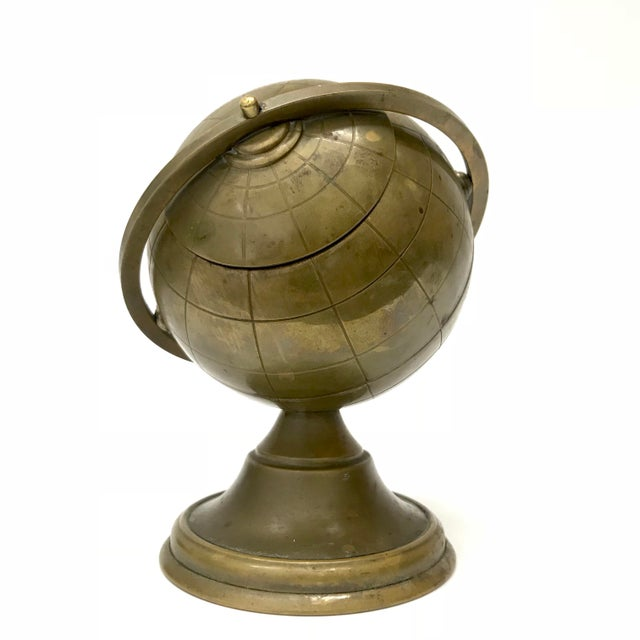 Vintage Brass Globe Ashtray - Image 3 of 5