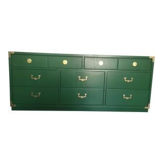 1960s Vintage Thomasville Vegas Green Campaign Dresser