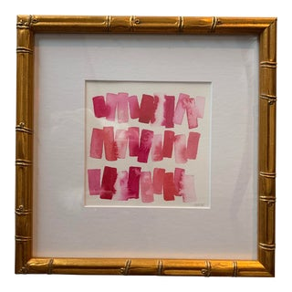 Abstract Watercolor in Shades of Pink For Sale