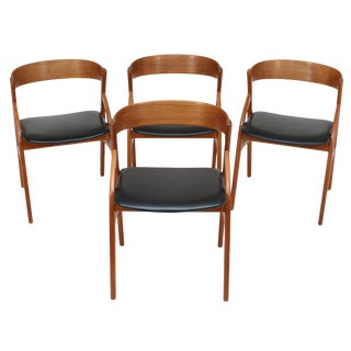 Teak Dining Chairs by Dyrlund Made in Denmark - Set of 4