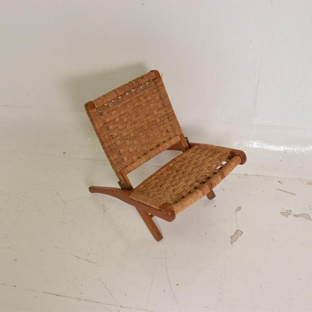 1940s Mexican Modernist Small Folding Chair After Clara Porset For Sale - Image 5 of 8