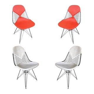 Charles Eames Orange Dkr Bikini Chair for Herman Miller, Set of Four For Sale
