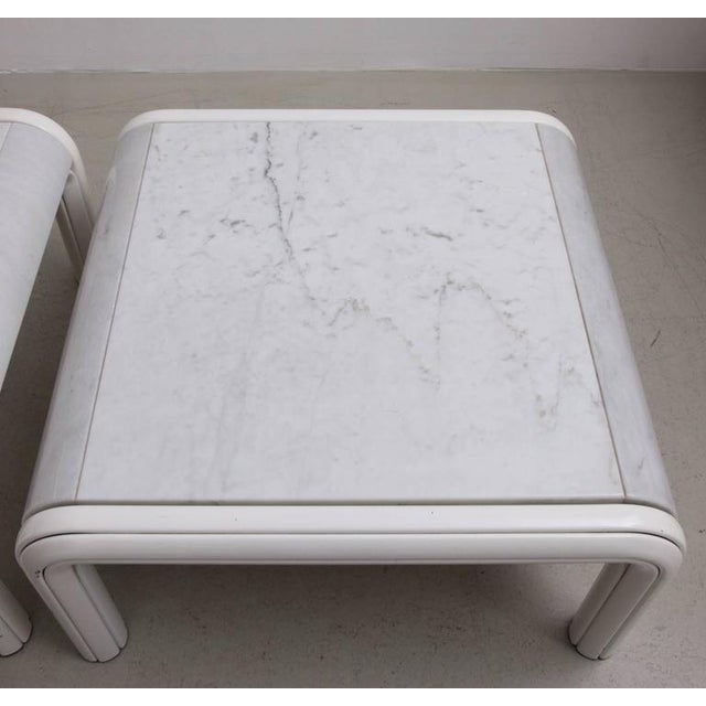 Marble Rare Pair of Marble Coffee or Sofa Tables by Gae Aulenti for Knoll, Italy, 1970s For Sale - Image 7 of 7