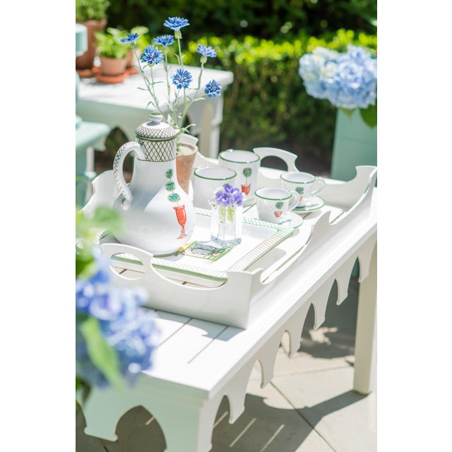 Not Yet Made - Made To Order Oomph Ocean Drive Outdoor Console Tray, Green For Sale - Image 5 of 8