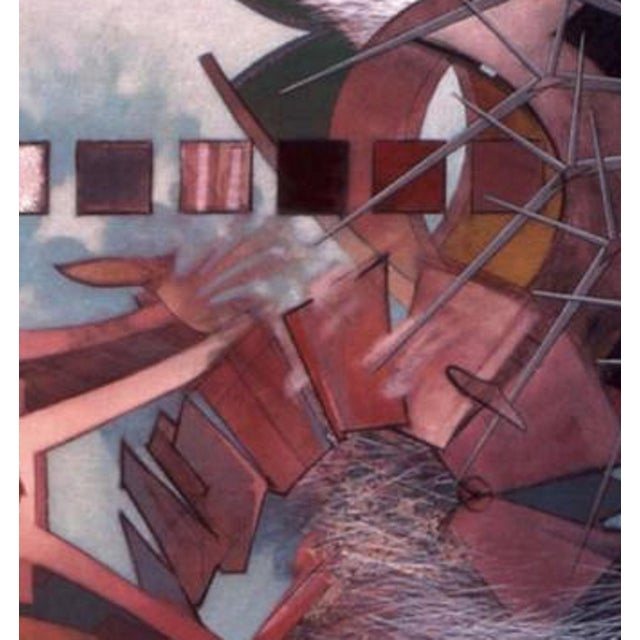 "Mid-Century Modern 1981 Abstract ""Untitled"" Acrylic on Canvas Painting by Brian Mains For Sale - Image 3 of 4"