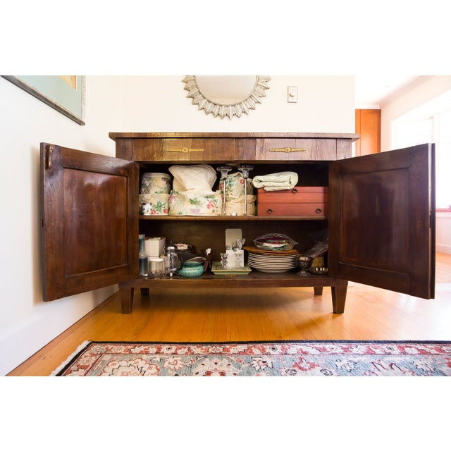 Traditional Antique Wooden Buffet Cabinet For Sale - Image 3 of 7