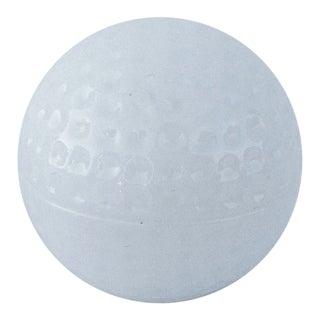 Milk Glass Golf Ball-Shaped Lidded Box For Sale
