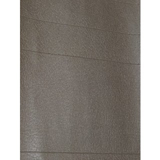 Solid Taupe Gold Leatherette Texture Wallpaper For Sale