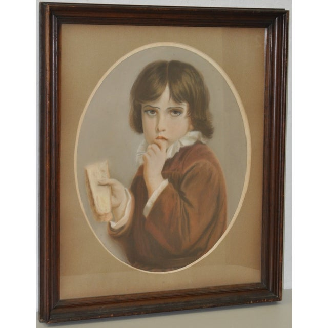 19th Century Pastel Portrait of a Young Boy - Image 2 of 5