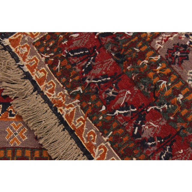 """Textile Antique Tribal Soumakh Sal Wool Rug - 6'2"""" X 8' For Sale - Image 7 of 9"""