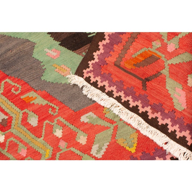 """Traditional Colorful Pictorial Donkey Wool Kilim Rug-4'3x7'10"""" For Sale In New York - Image 6 of 7"""