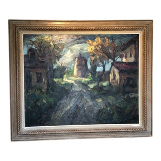 French Impressionist Landscape Oil on Canvas For Sale