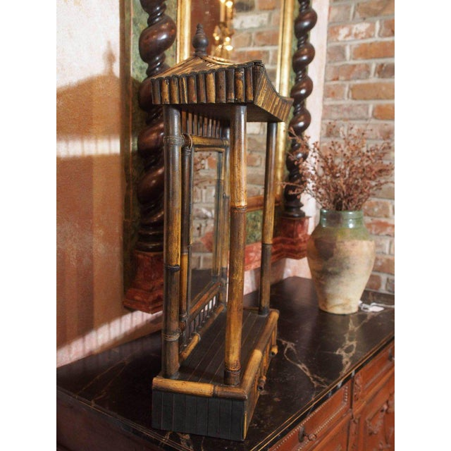 Asian Anglo-Chinese Bamboo Pagoda Form Dressing Mirror For Sale - Image 3 of 6