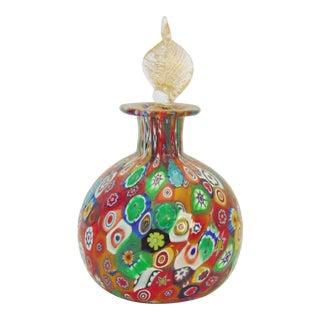 Italian Millefiori Art Glass Perfume Bottle For Sale