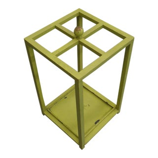 Early Modernist Umbrella Stand with Original Paint