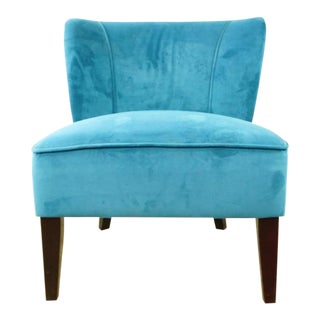 Contemporary Cost Plus Blue Upholstered Chair