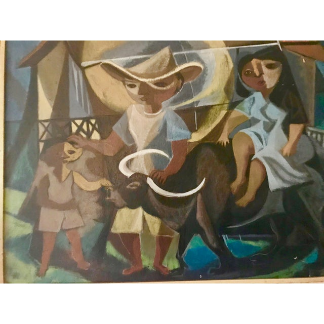 1948 Vintage William Rose Modern Oil Painting For Sale - Image 4 of 10
