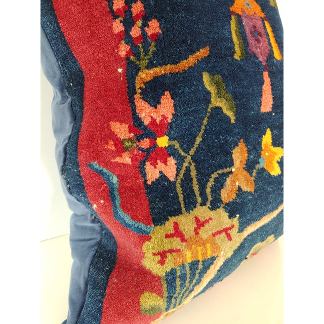 1920s Chinese Art Deco Nichols Rug Custom Pillow For Sale In Charleston - Image 6 of 13