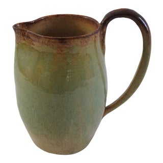 Vintage Ceramic Earth Tone Pitcher For Sale
