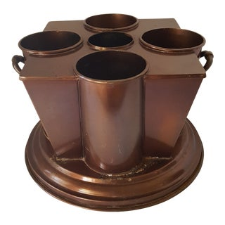 Antique Copper Wine Carrier