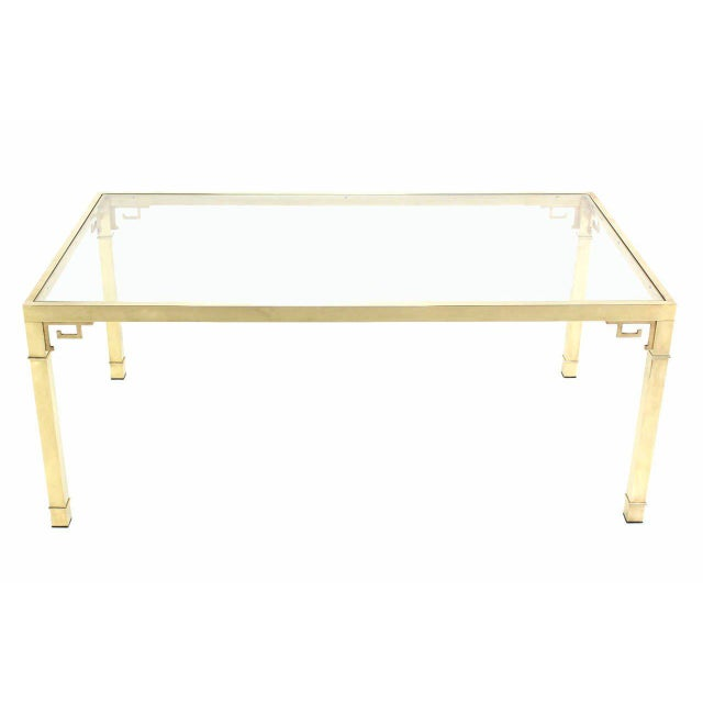 Gold Mastercraft Solid Brass Dining Table For Sale - Image 8 of 9