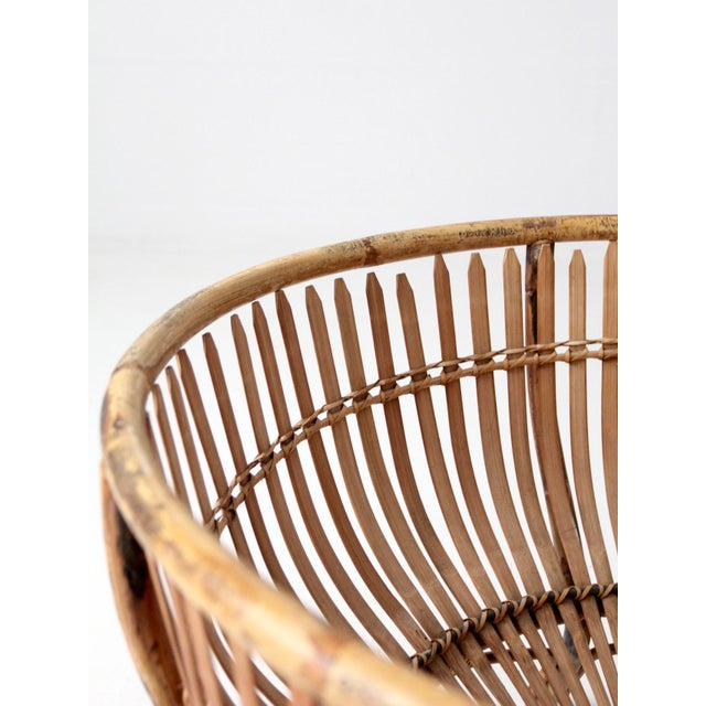 Mid-Century Rattan Basket For Sale - Image 11 of 13