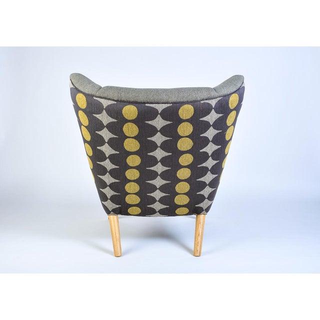 Mid-Century Modern Wegner Arm Chair & Ottoman For Sale - Image 4 of 10