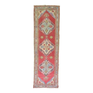 Turkish Oushak Runner - 3'5'' x 10'4''