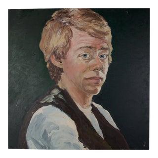 Large Vintage Portrait For Sale