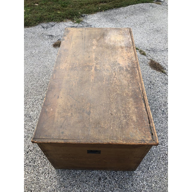 Late 19th Century Primitive Blanket Chest For Sale - Image 4 of 12