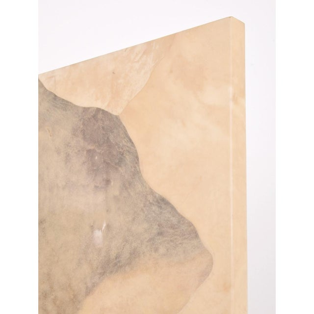 Paper Vintage Large Parchment Screen Attributed to Karl Springer For Sale - Image 7 of 8