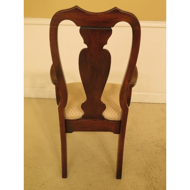 Cherry Wood 1990s Vintage Harden Furniture Cherry Wood Queen Anne Style Dining Room Chairs - Set of 6 For Sale - Image 7 of 13