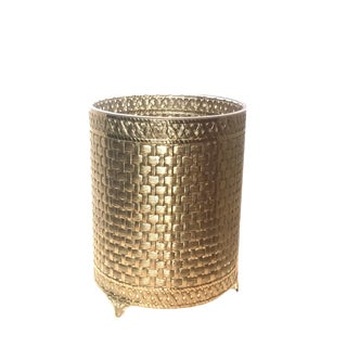 Gold Filigree Waste Paper Basket