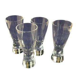 """Donald Pollard for Steuben """"Modernist"""" Crystal Shot / Cordial Glasses - Set of 4 For Sale"""