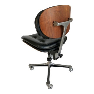 A Very Special Mid-Century Industrial Modern Swivel Stenographer's Chair in the Manner of Eames/Miller For Sale