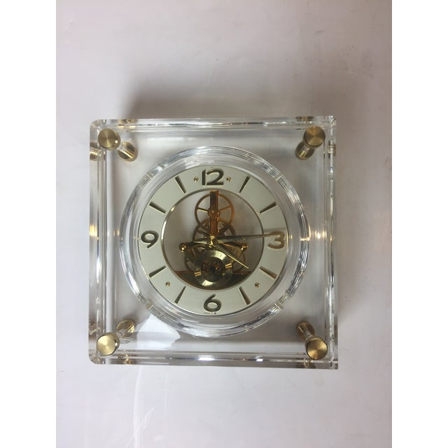 Late 20th Century Vintage Square Shape Lucite Clock For Sale - Image 13 of 13