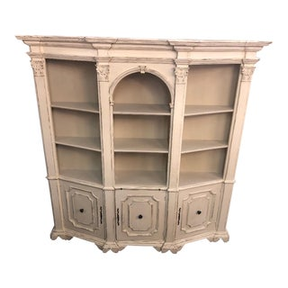 20th Century Italian Painted Walnut Bookcase For Sale