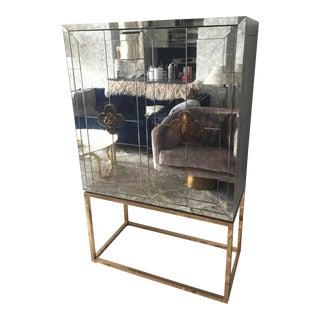 Mid-Century Modern Jonathan Adler Delphine Mirrored Bar