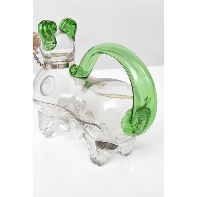Dual Tone Glass Dog Decanter - Image 8 of 9