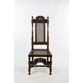 Late 19th Century Antique Jacobean Style Walnut Dining and Side Chairs - Set of 8 Preview