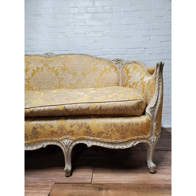 1930s Antique Victorian French Louis XV Style Couch For Sale - Image 10 of 13